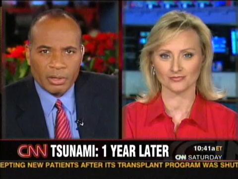 CNN Correspondent Alex Quade live studio interview for CNN Saturday show.