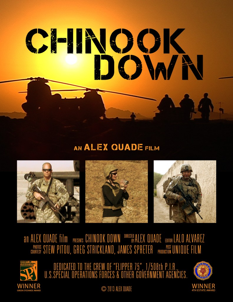 Alex Quade's 'Chinook Down' to screen in Los Angeles