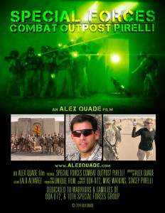 "Alex Quade Films presents ""Special Forces Combat Outpost Pirelli"""