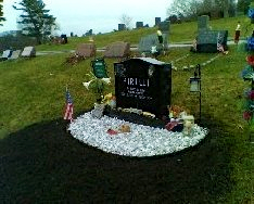 Rob Pirelli's grave site. (Photo courtesy of Pirelli family)